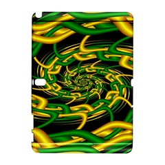 Green Yellow Fractal Vortex In 3d Glass Galaxy Note 1