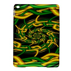Green Yellow Fractal Vortex In 3d Glass iPad Air 2 Hardshell Cases