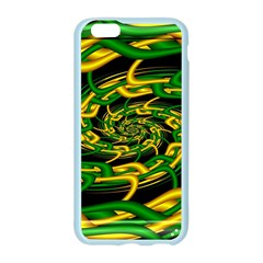 Green Yellow Fractal Vortex In 3d Glass Apple Seamless iPhone 6/6S Case (Color)