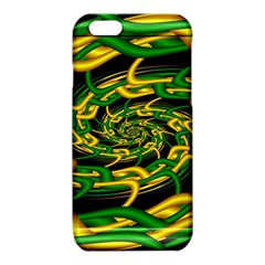 Green Yellow Fractal Vortex In 3d Glass iPhone 6/6S TPU Case