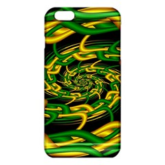 Green Yellow Fractal Vortex In 3d Glass iPhone 6 Plus/6S Plus TPU Case