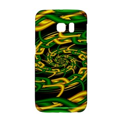 Green Yellow Fractal Vortex In 3d Glass Galaxy S6 Edge
