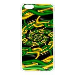 Green Yellow Fractal Vortex In 3d Glass Apple Seamless iPhone 6 Plus/6S Plus Case (Transparent)