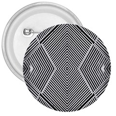 Black And White Line Abstract 3  Buttons