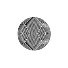 Black And White Line Abstract Golf Ball Marker (4 Pack)