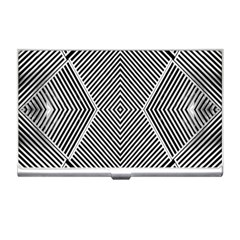 Black And White Line Abstract Business Card Holders
