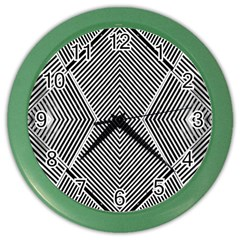 Black And White Line Abstract Color Wall Clocks