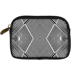 Black And White Line Abstract Digital Camera Cases