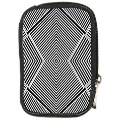Black And White Line Abstract Compact Camera Cases