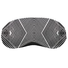 Black And White Line Abstract Sleeping Masks