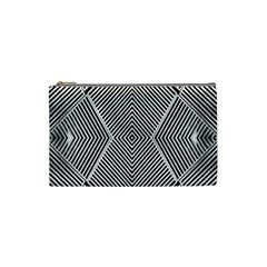 Black And White Line Abstract Cosmetic Bag (small)