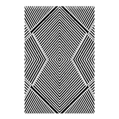 Black And White Line Abstract Shower Curtain 48  X 72  (small)