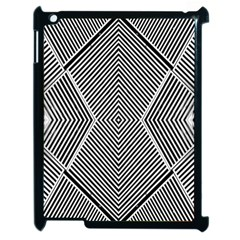 Black And White Line Abstract Apple Ipad 2 Case (black)