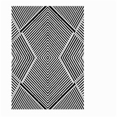 Black And White Line Abstract Large Garden Flag (Two Sides)
