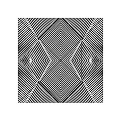 Black And White Line Abstract Acrylic Tangram Puzzle (4  x 4 )