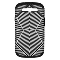 Black And White Line Abstract Samsung Galaxy S III Hardshell Case (PC+Silicone)