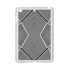 Black And White Line Abstract Ipad Mini 2 Enamel Coated Cases