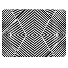 Black And White Line Abstract Samsung Galaxy Tab 7  P1000 Flip Case