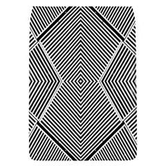 Black And White Line Abstract Flap Covers (S)