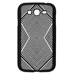 Black And White Line Abstract Samsung Galaxy Grand DUOS I9082 Case (Black)