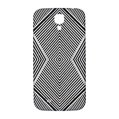 Black And White Line Abstract Samsung Galaxy S4 I9500/i9505  Hardshell Back Case
