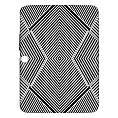 Black And White Line Abstract Samsung Galaxy Tab 3 (10 1 ) P5200 Hardshell Case