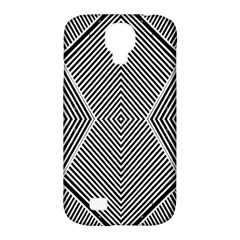 Black And White Line Abstract Samsung Galaxy S4 Classic Hardshell Case (pc+silicone)