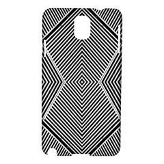 Black And White Line Abstract Samsung Galaxy Note 3 N9005 Hardshell Case