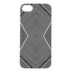Black And White Line Abstract Apple iPhone 5S/ SE Hardshell Case