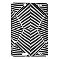 Black And White Line Abstract Amazon Kindle Fire Hd (2013) Hardshell Case