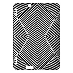 Black And White Line Abstract Kindle Fire HDX Hardshell Case