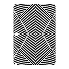 Black And White Line Abstract Samsung Galaxy Tab Pro 10.1 Hardshell Case