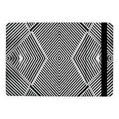 Black And White Line Abstract Samsung Galaxy Tab Pro 10.1  Flip Case