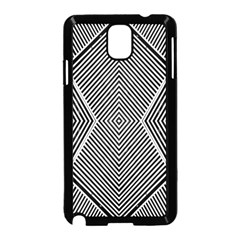 Black And White Line Abstract Samsung Galaxy Note 3 Neo Hardshell Case (Black)