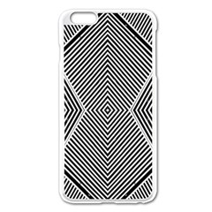 Black And White Line Abstract Apple iPhone 6 Plus/6S Plus Enamel White Case
