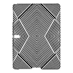 Black And White Line Abstract Samsung Galaxy Tab S (10 5 ) Hardshell Case
