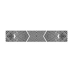 Black And White Line Abstract Flano Scarf (mini)