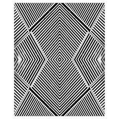 Black And White Line Abstract Drawstring Bag (small)