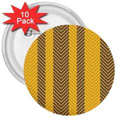 Brown And Orange Herringbone Pattern Wallpaper Background 3  Buttons (10 Pack)