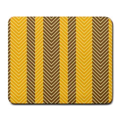 Brown And Orange Herringbone Pattern Wallpaper Background Large Mousepads