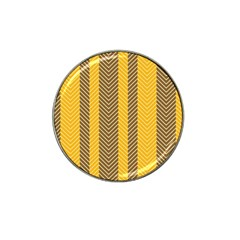 Brown And Orange Herringbone Pattern Wallpaper Background Hat Clip Ball Marker