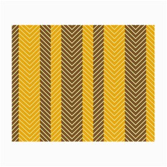 Brown And Orange Herringbone Pattern Wallpaper Background Small Glasses Cloth
