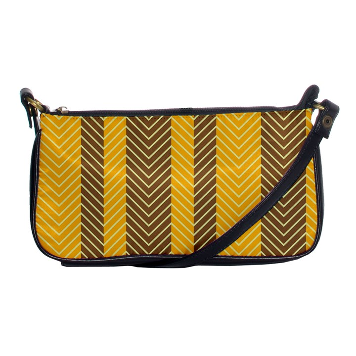 Brown And Orange Herringbone Pattern Wallpaper Background Shoulder Clutch Bags