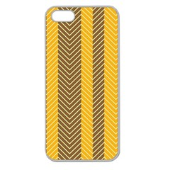 Brown And Orange Herringbone Pattern Wallpaper Background Apple Seamless iPhone 5 Case (Clear)