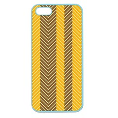 Brown And Orange Herringbone Pattern Wallpaper Background Apple Seamless Iphone 5 Case (color)