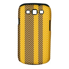 Brown And Orange Herringbone Pattern Wallpaper Background Samsung Galaxy S III Classic Hardshell Case (PC+Silicone)