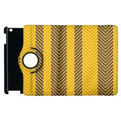 Brown And Orange Herringbone Pattern Wallpaper Background Apple iPad 2 Flip 360 Case