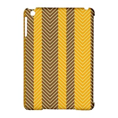 Brown And Orange Herringbone Pattern Wallpaper Background Apple iPad Mini Hardshell Case (Compatible with Smart Cover)