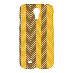 Brown And Orange Herringbone Pattern Wallpaper Background Samsung Galaxy S4 I9500/I9505 Hardshell Case