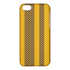 Brown And Orange Herringbone Pattern Wallpaper Background Apple iPhone 5C Hardshell Case